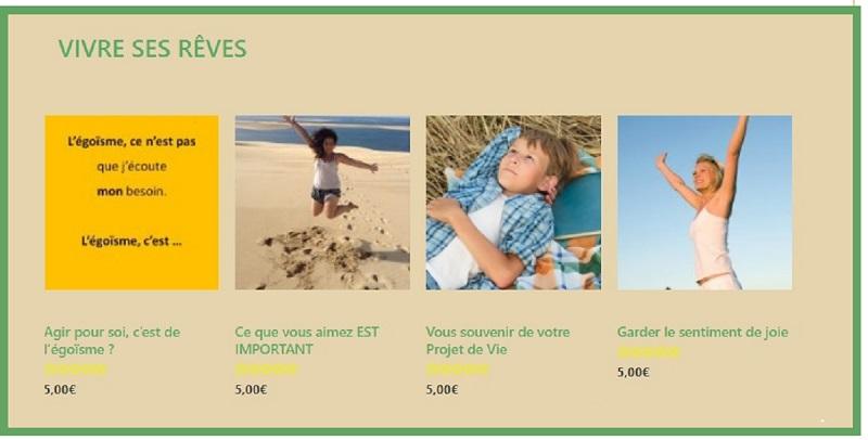 Tappings : Vivre ses Rêves; https://www.jaime-left.com/categorie-produit/vivre-ses-reves/ [intuition]