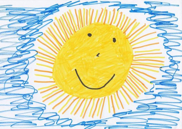 heureux-soleil-dessin d'enfant
