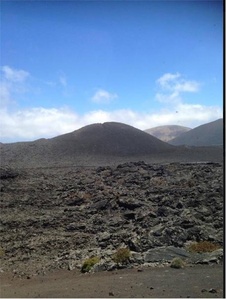 Cesar Manrique; Lanzarote, volcans