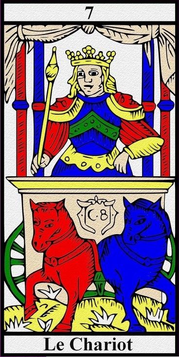 Le Chariot (carte du Tarot) - point d'appui spirituel